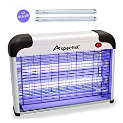 Eco-friendly: Insects are attracted and easily killed by the high voltage metal grids, keeping your home Eco-friendly. POWERFUL INSECT CONTROL: Attracts flies, moths, mosquitoes, and other flying insects using two UV lightbulbs SAFE: A mesh screen pr...