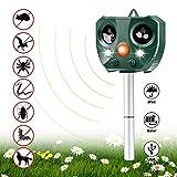 QAQWER Repellente per Animali, Repellente Gatti Ultrasuoni, Solar Animale Repeller Impermeabile,...