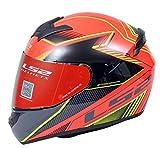 LS2 Helmets - FF352 Rookie - Kascal - Gloss Black Orange - Single Mercury Visor Full Face Helmet -...