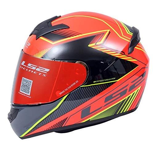 LS2 Helmets - FF352 Rookie - Kascal - Gloss Black Orange - Single Mercury Visor Full Face Helmet - (Large - 580 MM) - The Riders Den