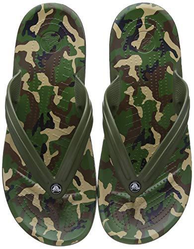 Crocs Unisex - Adulto Crocband Printed Flip, Army Green/Black, 46-47