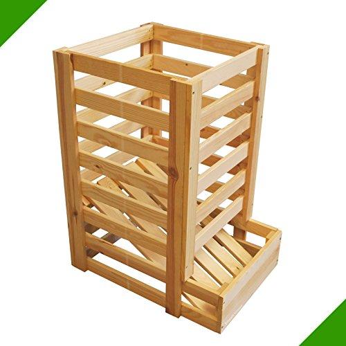 Kartoffelkiste Obstkiste Lebensmittelkiste Kiste aus Holz Holzkiste für Bälle Früchte Obst Futtermittel Unbehandelt Aufbewahrungskiste Allzweckkiste Lagerkiste