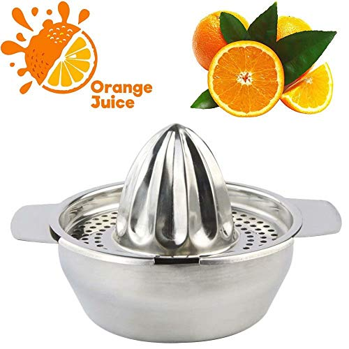 Paddsun Best Juicer Squeezer Tool, Stainless Steel Orange Citrus Lemon Fruit Squeezer for Home Bar Kitchen Utensil