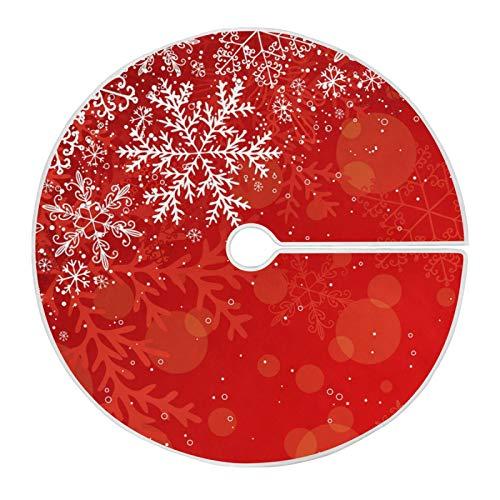 Mnsruu Falda de árbol de Navidad con copo de nieve para decoración de Navidad (90 cm)
