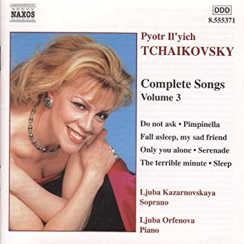 TCHAIKOVSKY: Songs (Complete), Vol.  3