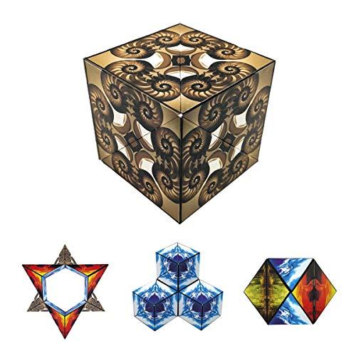 GeoBender - 1 x Cube magnétique 3D Nautilus - Plus de 104 Variations - Jeu Anti-Stress pour Enfant et Adulte - Jeux de Puzzle éducatif et créatif - Infinity Cubes pour Un Apprentissage interactif