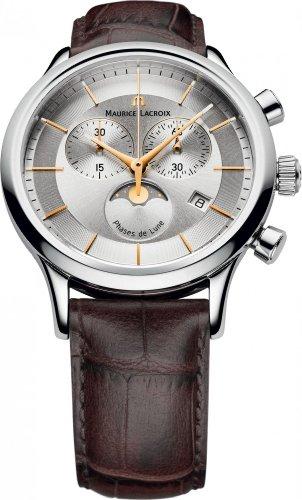 Maurice Lacroix Les Classiques LC1148-SS001-132 Orologio da polso uomo Indicatore fasi lunari