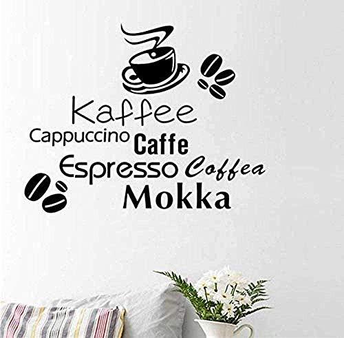 Pegatinas de pared de vinilo decoración de la pared pegatinas de bricolaje de varios granos de café taza de café decoración del hogar decoración del hogar 57x46 cm