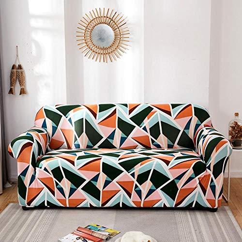 ASCV Fundas elásticas Funda de sofá elástica para Sala de Estar Funda de sofá seccional Funda de sillón en Forma de L A5 3 plazas
