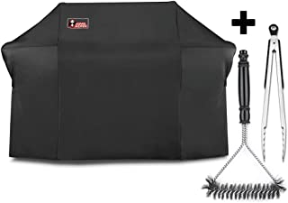 Kingkong 7109 Premium Grill Cover for Weber Summit 600-Series Gas Grills Including Grill Brush and Tongs