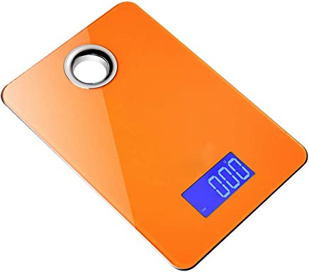 Digital Kitchen Scale 5Kg/1g Mini Pocket Precision Food Baking Scale Electronic Balance Weight LCD Backlight Display (Color : Orange)