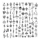 200 Piezas Colgantes Dijes de Plata de Tibetano, Encantos Colgantes Mixtos, Colgantes DIY Dijes Diy Accesorios, Accesorios de Decoración, para Bricolaje, Laveros, Pulseras, Collares, Pendientes