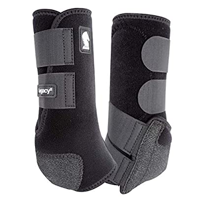 Classic Rope Company Legacy2 Front Protective Boots 2 Pack Black M
