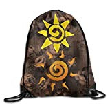 uykjuykj Coulisse Sacchetto,Zaino Coulisse Sacchetto, Two Sun Cartoon Folding Sport Backpack Drawstring Bag Home Travel Storage Use Lightweight Unique 17x14 in