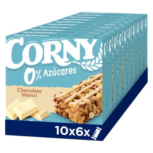 Corny Barritas 0% de Chocolate Blanco. 10 estuches con 6 barritas 10x(6x20g)