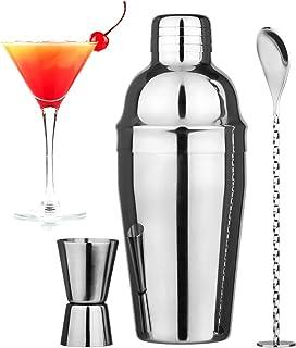 Wepikk Cocktail Shaker Set Bar Tools Mixology Bartender Kit Stainless Steel Drink Mixer Shaker(18.6 oz) Jigger Spoon Marti...