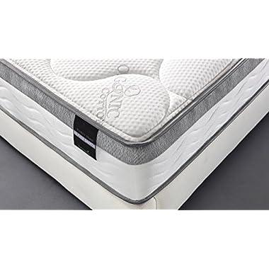 Oliver Smith - Organic Cotton - 10 Inch - Perfect Sleep - Comfort Plush Euro Pillow Top - Cool Memory Foam & Pocket Spring Mattress - Green Foam Certified - King