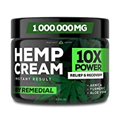 INSTANT CREAM FORMULA – Our natural and organic hemp cream for pain relief is 4x stronger. It's natural formula has the perfect ingredients like hemp, MSM, arnica, and menthol. NATURAL PAIN RELIEF – Made with care, dedication and commitment exclusive...