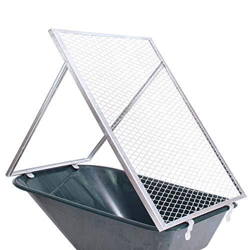 TRUTZHOLM® Schubkarren Durchwurfsieb Gartensieb Sieb Kompost Gitter Durchwurfgitter Erdsieb (100x60cm)