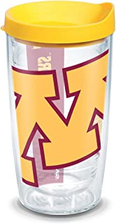 Tervis 1126312 Minnesota Golden Gophers Colossal Tumbler with Wrap and Yellow Lid 16oz, Clear