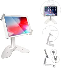 Angel POS Universal Tablet Desktop Anti-Theft POS Stand Holder Enclosure with Lock & Key for Retail Kiosk, Compatible with...