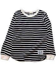 男の子 子供服 ベーシック ワッフル ボーダー柄 長袖Tシャツ bs1-5910 140~160