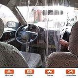 01 - Película de protección para coche o taxi, transparente, autoadhesivo, crea una separación y protege contra gérmenes, humo o saliva, 140 x 200 cm