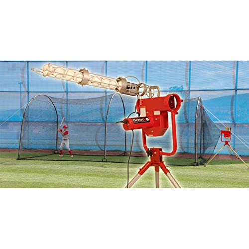 Heater Sports Pro Breaking Ball Baseball Pitching Machine With Auto Ball Feeder & Xtender 24' L...
