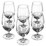 Leonardo Wasser-Glas Daily, Trink-Glas mit Fuß im Basic-Stil, spülmaschinenfestes Getränke-Glas,...
