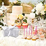 VGOODALL 100 Stück Hochzeit Gastgeschenke Süßigkeiten Kasten Gastgeschenke Schachtel Hochzeit Taufe Geschenkbox Kartonage Tischdeko Hochzeit Dekoration (Weiß) - 6