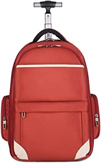 Aiyoudemutou Kids Luggage, Wheeled Backpack Trolley Laptop Rucksack Cabin Hand Luggage Camping Hiking Travel Bag (Color : Orange)