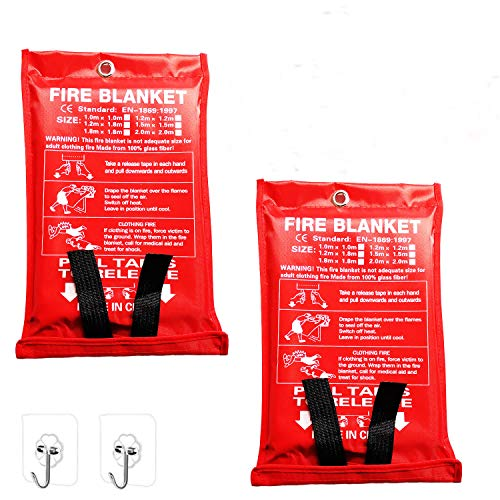 Flame Retardant Blanket Emergency Survival Safety Warehouse Fireplace car Office Cover for Kitchen Deke Home Pack Fire Blanket Fiberglass Emergency Blanket Suppression Blanket