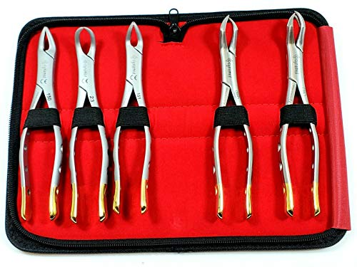 Most Famous Set of 5 German Dental Tooth EXTRACTING Extraction Forceps -Dental Instruments #150#151#23#88L #88R -CYNAMED