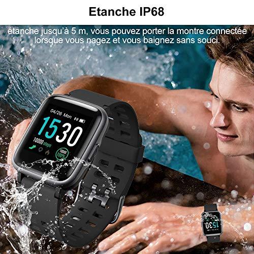 YAMAY Montre Connectée Femmes Homme Montre Intelligente Android iOS Smartwatch Vibrante Bracelet...