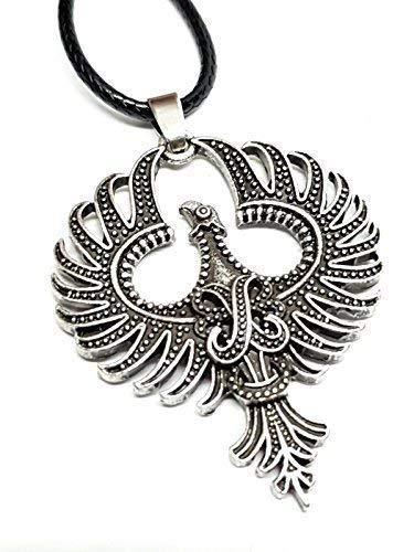 Eclectic Shop Uk Phoenix Vuur Vogel Hanger Mythische Spirituele Hergeboorte Hernieuwen Tinnen Koord Ketting