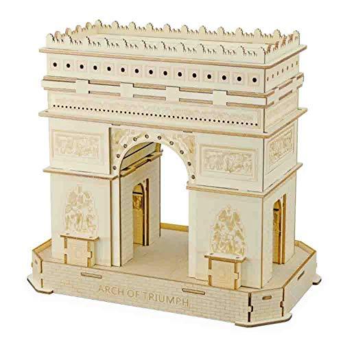 LJHLJH 3D Rompecabezas de Madera Arco del Triunfo Modelo Adulto Craft Kits, Grandes Desafío Arquitectura Arquitectura Modelo Juguetes del Alivio de tensión Regalos para Mujeres y Hombres
