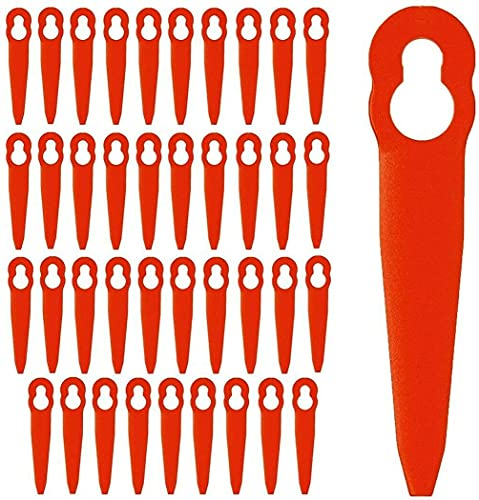 Cuchillas de Repuesto de Plástico, 40 Piezas Cuchillas Desbrozadora Gasolina cuchillas de plástico cortacésped Discos Desbrozadora Recambio de herramienta de jardinería cortadora recortadora (Rojo)