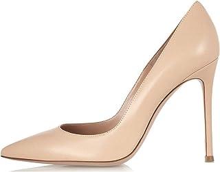 7e9c7c3fe4f0cc EDEFS Escarpins Femme - Sexy High Heel Shoe - Stiletto Escarpin Nude -  Chaussures Talons Aiguilles