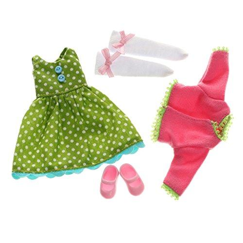 Lottie Kleidung für Puppe LT060 Flower Power Outfit Set - Puppen Zubehör Kleidung Puppenhaus Spieleset - ab 3 Jahren