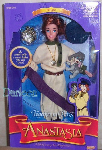 Anastasia doll - Together in Paris with Pooka the dog 1997