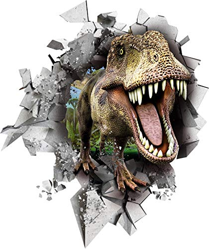 BumbleBee T- REX 3D Dinosaurs Wall Stickers Peel and Stick for Kids Bedroom Boys - 57x67cm