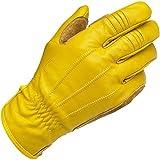 Guanti Uomo Pelle Gialli Gold Biltwell Work Gloves Biker Moto Custom Taglia S