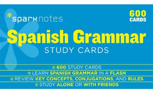 Spanish Grammar SparkNotes Study Cards (Volume 17)