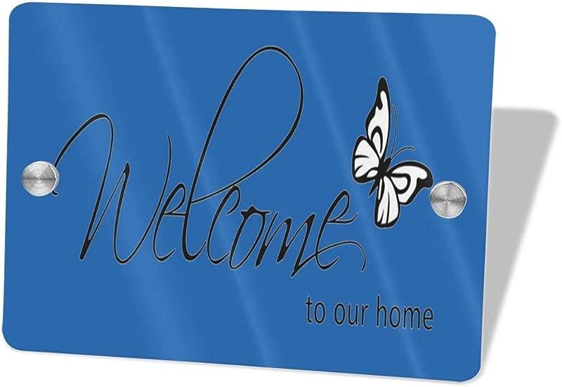 2vf78wew11 Welcome To Our HomeCustom Door Sign 5 5 X 7 5 Door Suite Wall Sign Name Plate For Wall Front Door Decor Indoor Outdoor