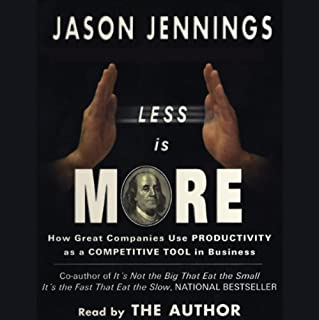 Less Is More audiobook cover art
