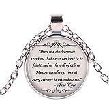 Jane Eyre - Collana con citazione motivazionale per gli amanti dei libri