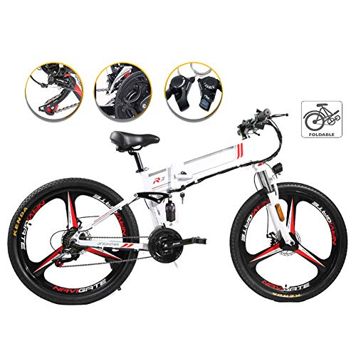 Bicicleta Eléctrica Plegable, Potente Motor De 48V 350W, Bici De Montaña Adulto,...