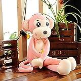 N / A Lindo Mono de Peluche de Juguete Suave Almohada de Gibbon muñeco de Dormir Relleno para niños Novia cumpleaños 50cm