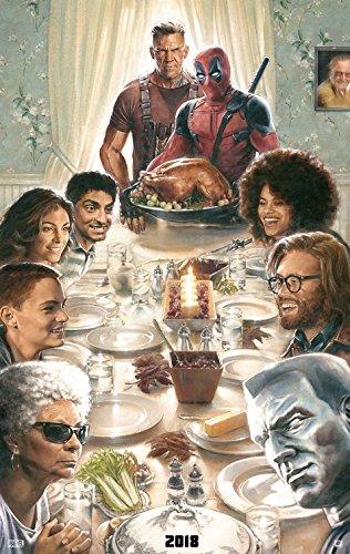 DEADPOOL 2 (2018) Original Authentic Movie Poster 27x40 - Double - Sided - Ryan Reynolds - Josh Brolin - Morena Baccarin