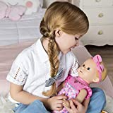 Luvabella 6047317 Newborn, Blonde Hair, Interactive Baby Doll with Real Expressions and Movement, Multicolour